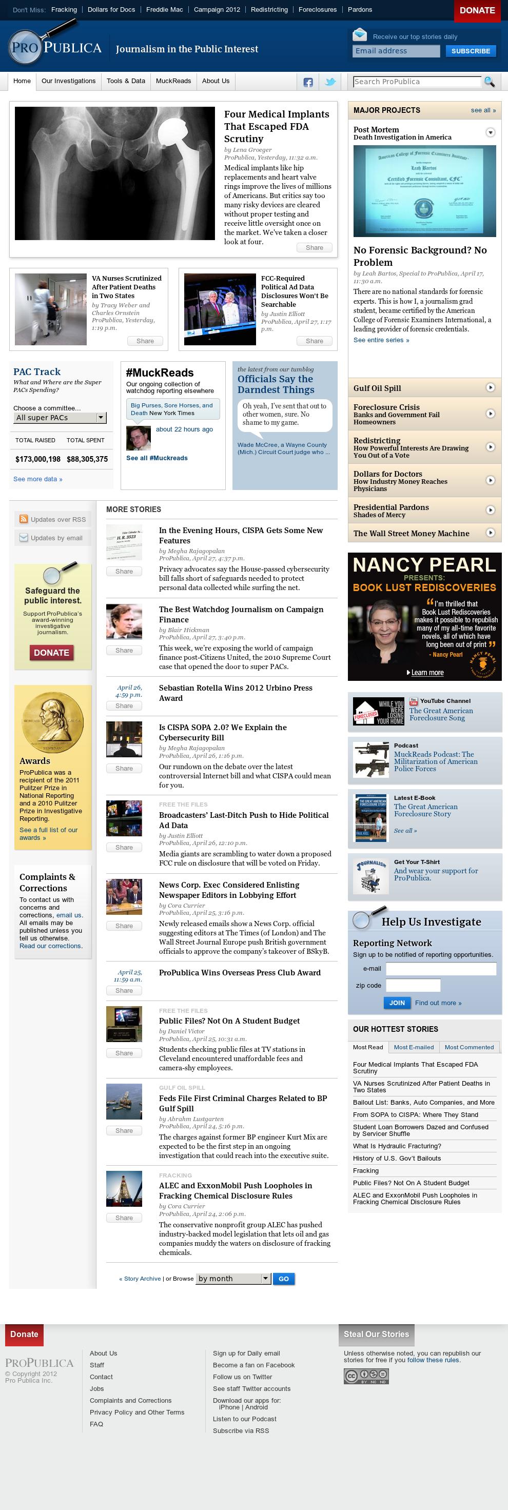 ProPublica at Tuesday May 1, 2012, 12:13 p.m. UTC