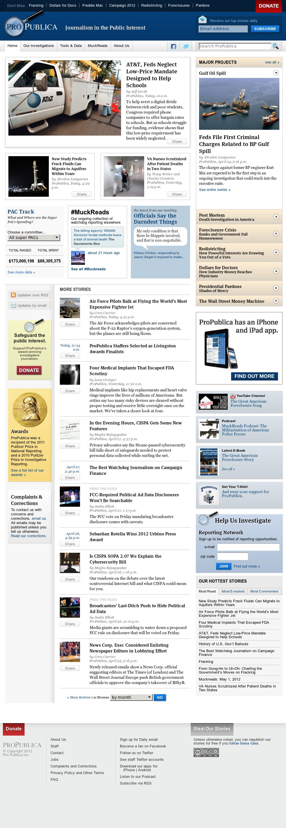 ProPublica at Wednesday May 2, 2012, 2:11 a.m. UTC