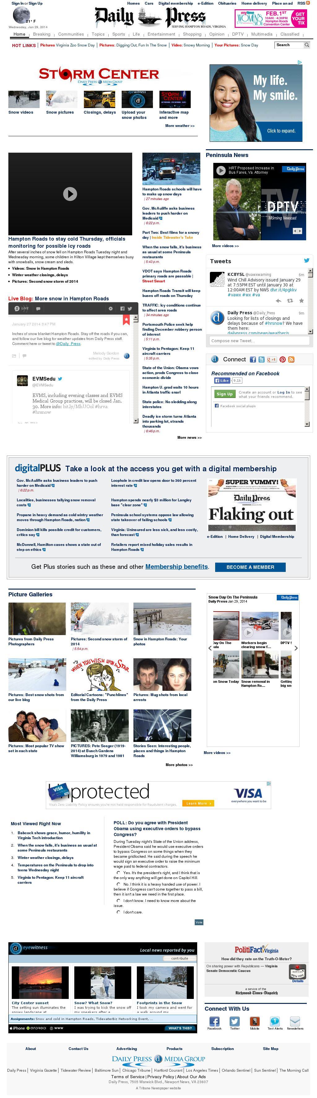 (Hampton Roads) Daily Press at Thursday Jan. 30, 2014, 1:04 a.m. UTC