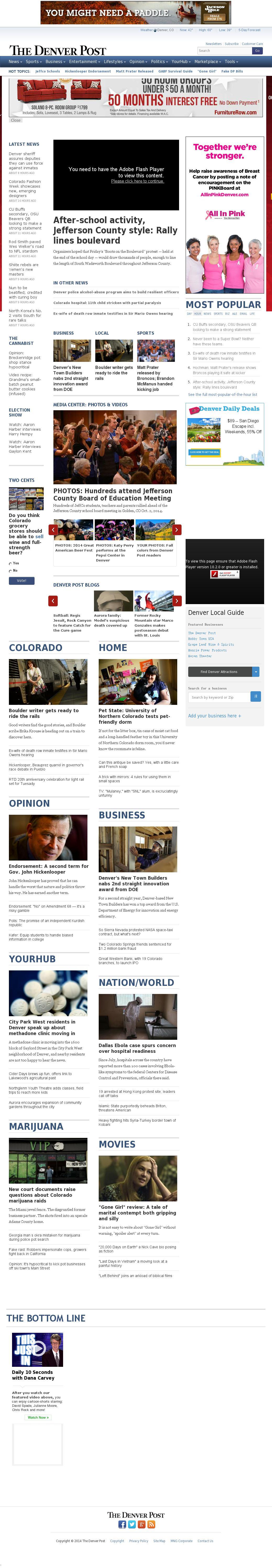 Denver Post at Saturday Oct. 4, 2014, 10:03 a.m. UTC