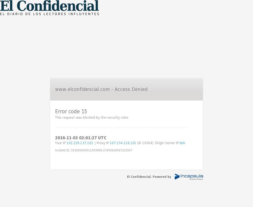 El Confidencial at Thursday Nov. 3, 2016, 2:03 a.m. UTC