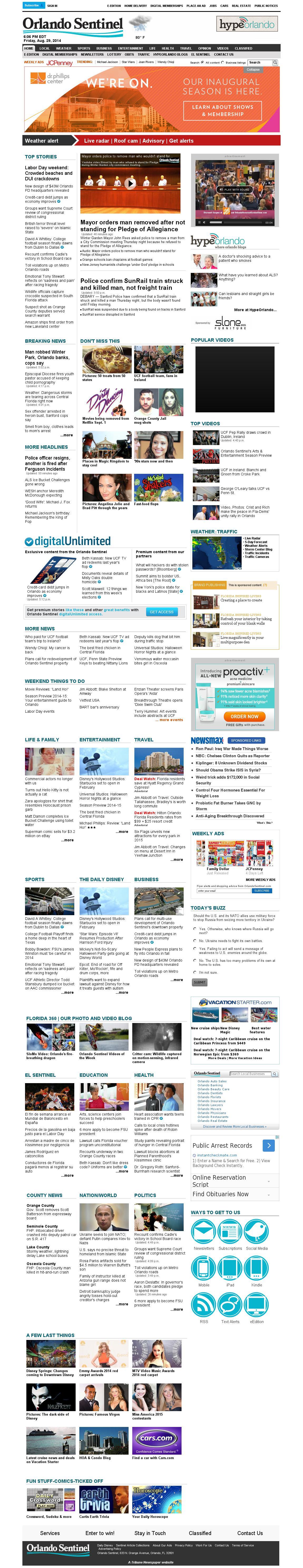 Orlando Sentinel at Friday Aug. 29, 2014, 10:12 p.m. UTC