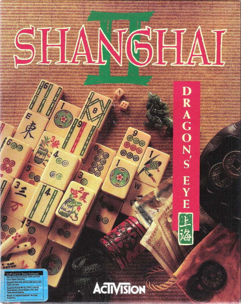 Shanghai II Dragon's Eye 1990 5.25 Disks