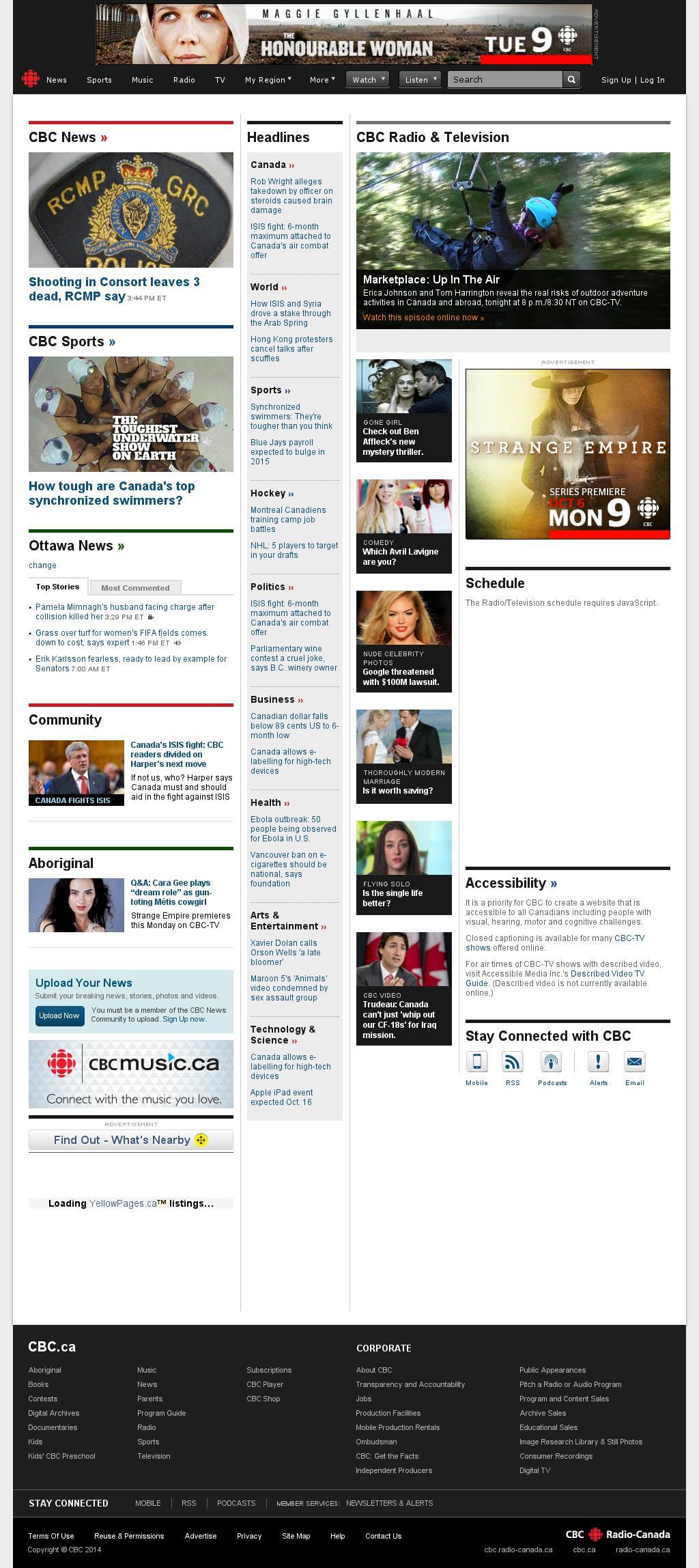 CBC at Friday Oct. 3, 2014, 8:01 p.m. UTC