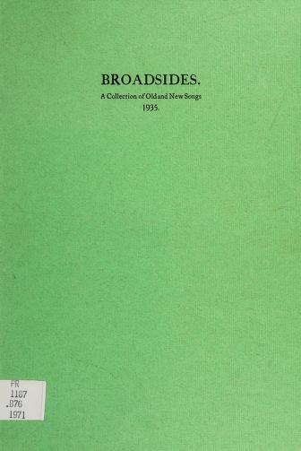 Cover of: Broadsides, a collection of old and new songs, 1935 | Frederick Robert Higgins, W. B. Yeats, Arthur Duff, Jack Butler Yeats
