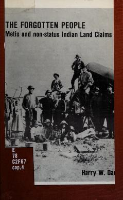 Cover of: The Forgotten poeple   edited with an ntroduction by Harry W. Daniels. --