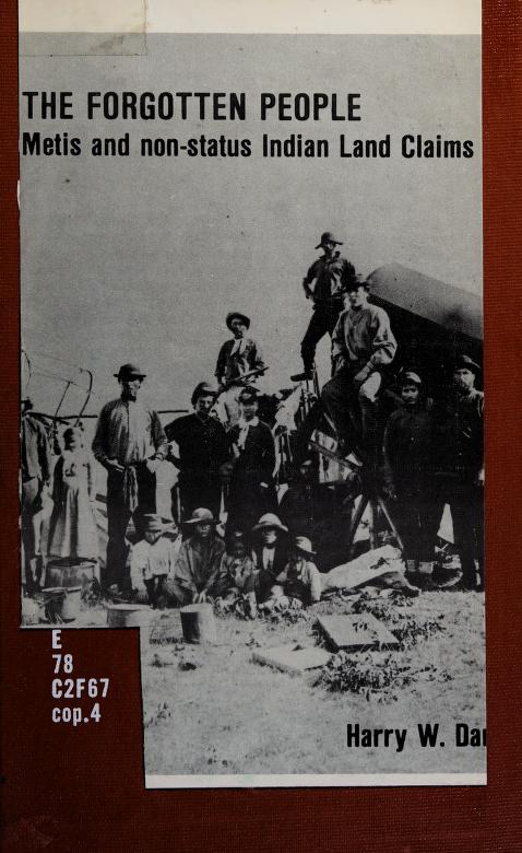 The Forgotten poeple by edited with an ntroduction by Harry W. Daniels. --