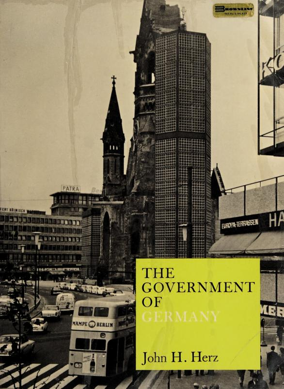 The government of Germany by John H. Herz