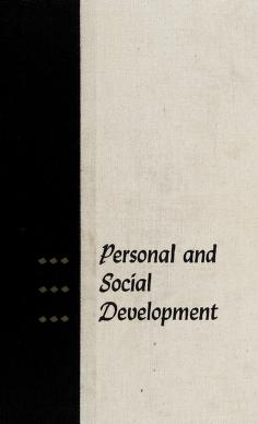Cover of: Personal and social development | Louis Samuel Levine